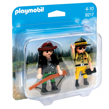 Playmobil Action Duo pack Ranger y cazador
