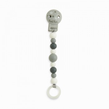 Pinza chupete silicona Weekend gris