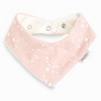 Babero bandana Weekend Constellation rosa