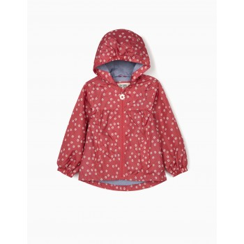 Parka Hooded Flowers Holly Berry
