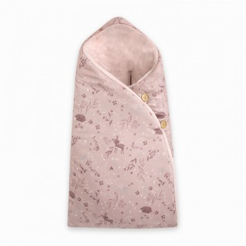 Saco Arrullo Capucha Little Forest rosa