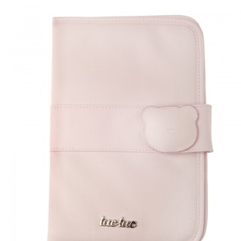 Porta documentos polipiel Brioche rosa